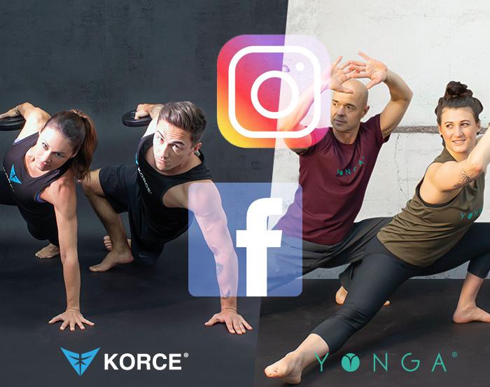 KORCE & YONGA - auch bei Social Media