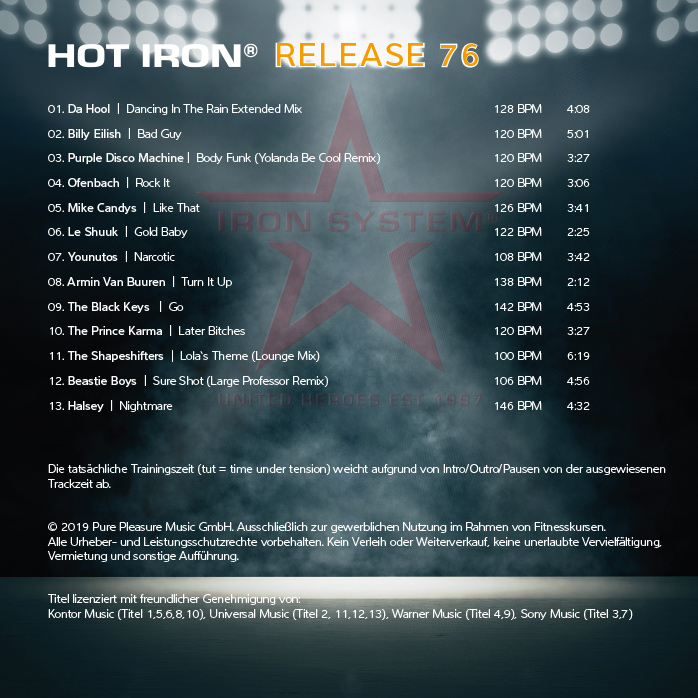 HOT IRON® 75 »All Over The World«