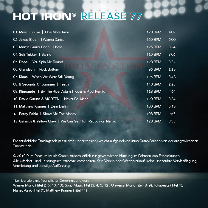 """HOT IRON® Release 77 """"HOME"""""""