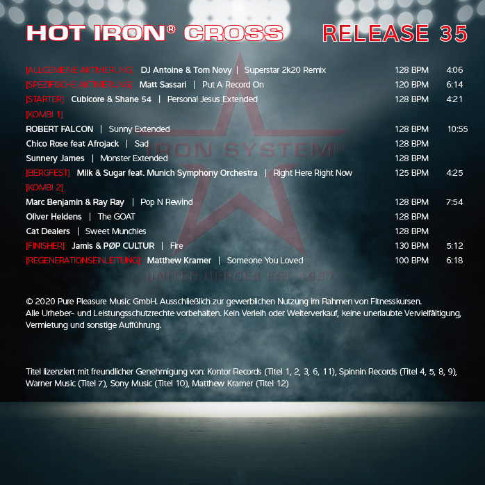 "HOT IRON® CROSS Release 34 ""Pump It Up"""