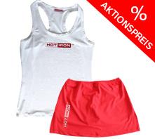IRON SYSTEM® Set, female, white Tank & red Skirt