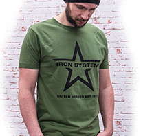 IRON SYSTEM® Basic Shirt Star, male, forest green