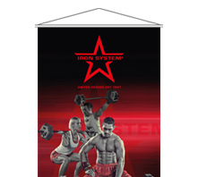 IRON SYSTEM® Banner - Motiv 1 (red)