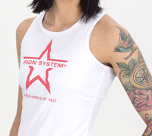 IRON SYSTEM® Sportstank, female, white