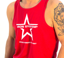 IRON SYSTEM® Sportstank, male, red
