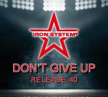 """HOT IRON® CROSS Release 40 """"DON'T GIVE UP"""""""